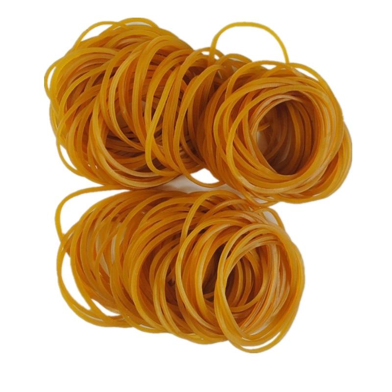 300 pces amarelo elástico de borracha bandas papelaria titular embalagem 120mm SJD13-4
