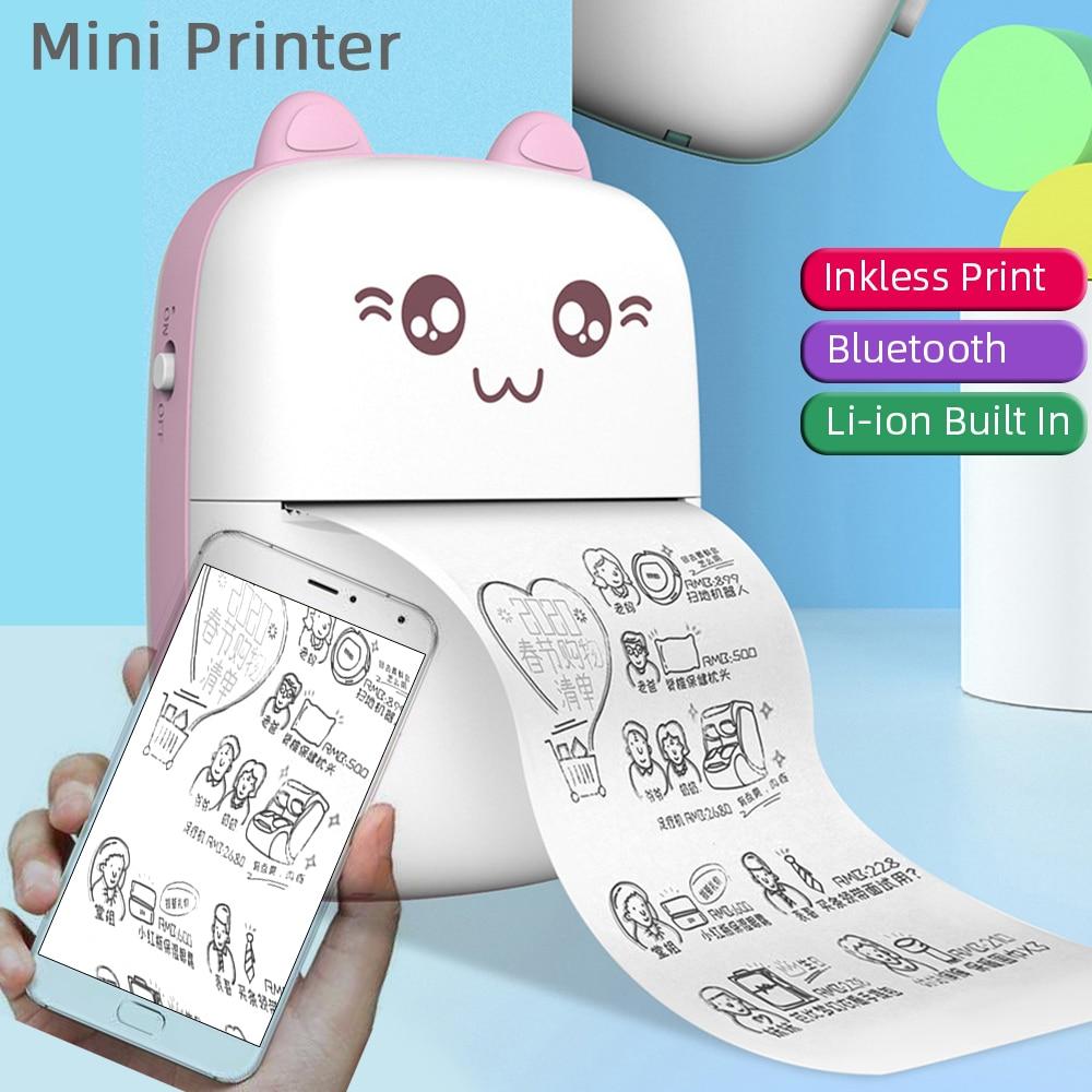 Мини портативный карманный беспроводной Bluetooth принтер для этикеток HD термальный тег фото цена принтер для стикеров быстрая печать для дома ...