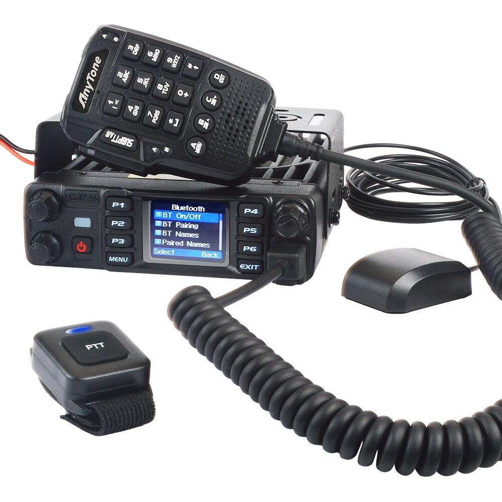 anytone AT-D578UV PRO Bluetooth mobile radio dual band  UHF VHF 55W dmr digital&Analog  GPS APRS Bluetooth PTT voice record