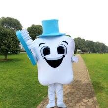 Publicité dent mascotte Costume Cosplay fête tenues taille adulte soins dentaires dessin animé déguisement personnage défilé unisexe Costume