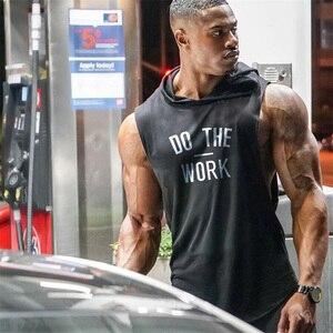 Muscleguys Brand clothing Bodybuilding hoodie Shirt Fitness Men Tank Top Muscle Vest Stringer Undershirt DO THE WORT TankTop