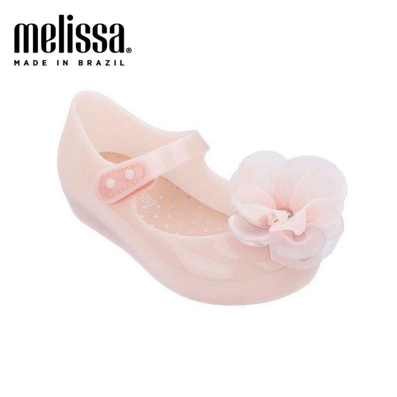 Mini Melissa Ultragirl Chic Flower Girl Jelly Shoes Sandals 2020 Baby Shoes Melissa Sandals Kids Slides Shoe Girls Toddler