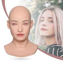 KUMIHO Brigitte Style asiatique carré-visage image canular à la main en silicone masque de visage cosplay costumes accessoires de scène pour crosscommode 5G