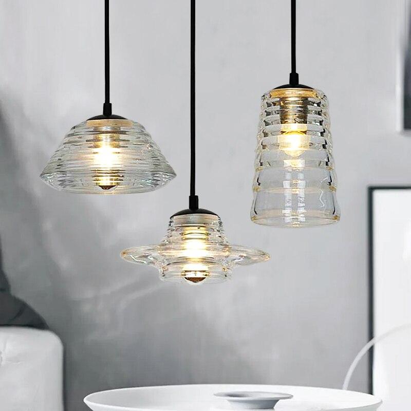 Прозрачная чаша объектив подвесной светильник-труба стеклянный светильник магазин одежды кафе бар столовая современный подвесной светиль...
