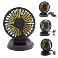 5v12v24v 360 degree all round adjustable car auto air cooling fan low noise car auto cooler air fan car fan accessories