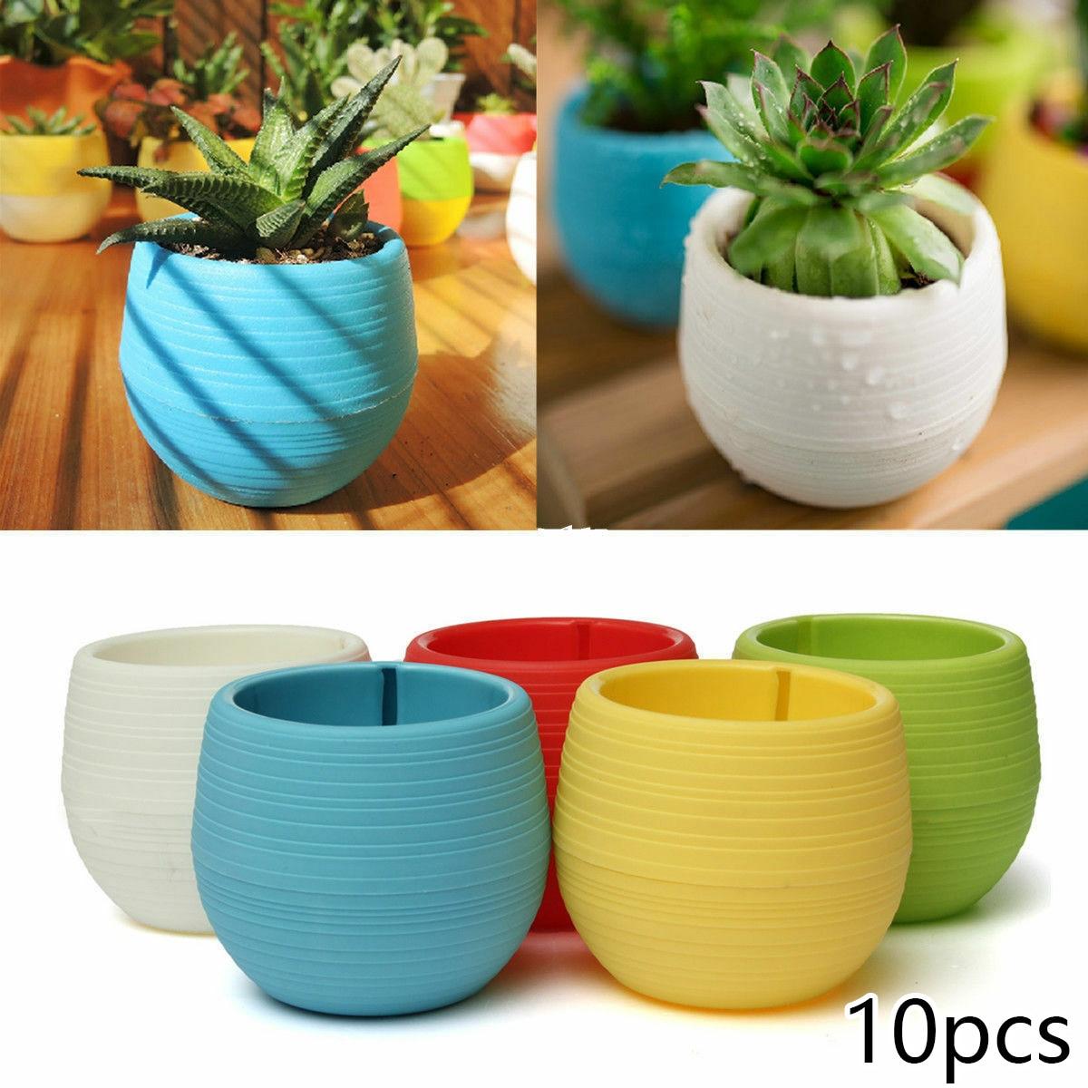 Planter Flower Pots Supply Decoration Round Mini Plastic Succulent Plant