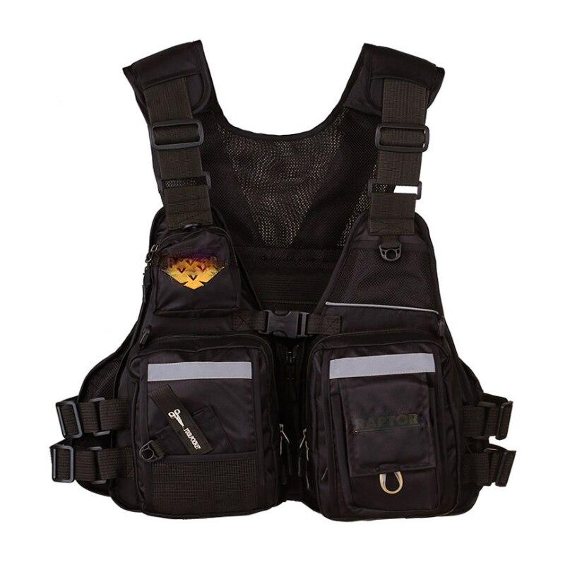 High quality best-selling fishing multi - purpose buoyancy lifejacket multi - pocket rocky fishing survival vest enlarge