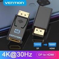Переходник Vention с портом дисплея на HDMI, 4K «папа», DP на гнездо HDMI, Видео Аудио конвертер для ПК, ноутбука, проектора, порт дисплея на HDMI