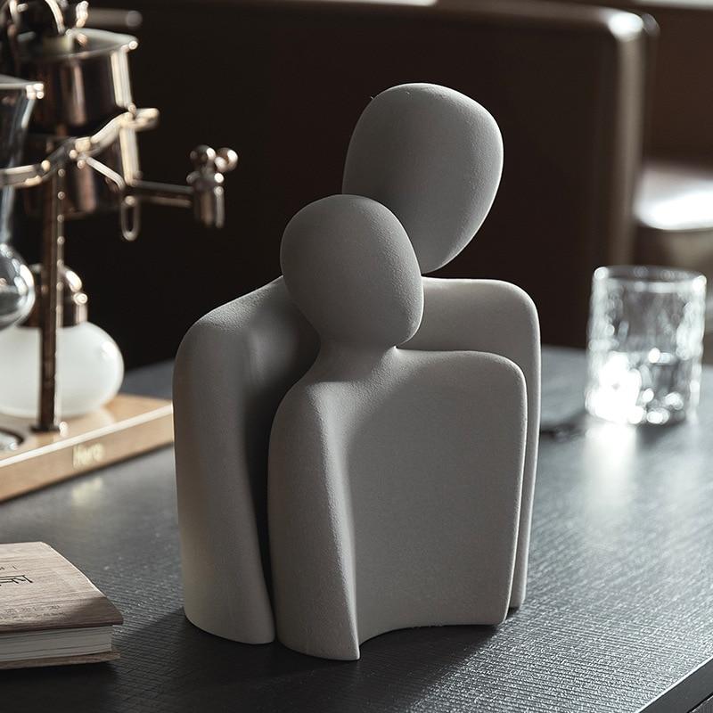 Nordic minimalist abstract figures ceramic ornaments bedroom living room desktop furnishings home decoration office figurines