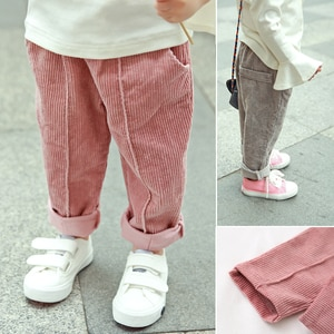 2020 Children Pants corduroy Kids Winter Autumn Clothes Girls Trousers for baby boys harem pants toddlers thick warm fleece good