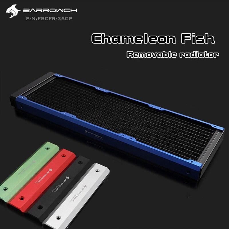 Barrowch FBCFR-360, panel Modular de pez camaleón, radiadores de 360mm, radiadores removibles de acrílico/POM, adecuados para ventiladores de 120mm