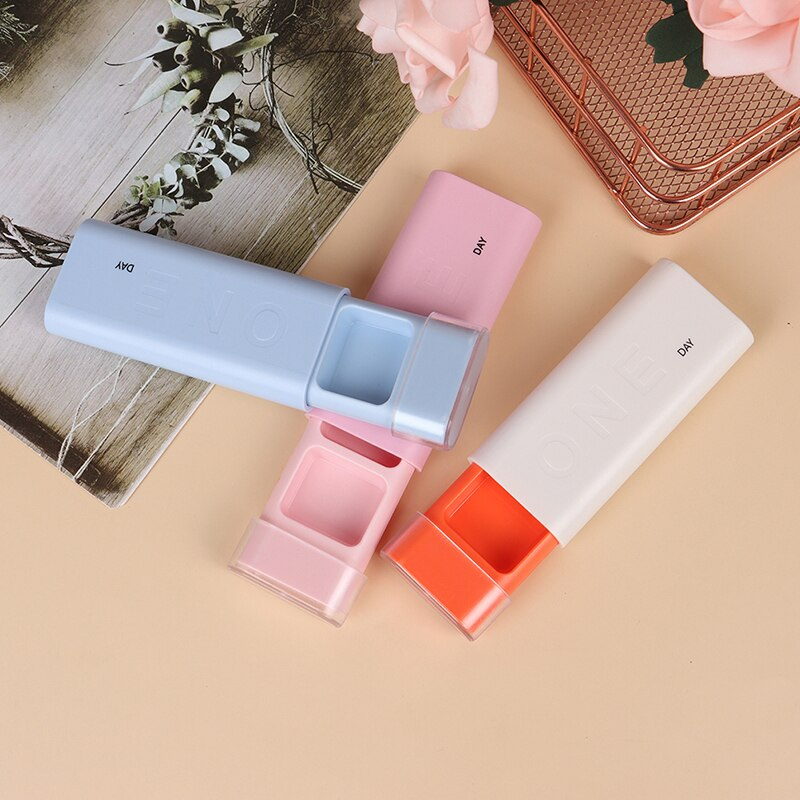 Caja para píldoras portátil de 3 rejillas, caja dispensadora de píldoras, Mini caja organizadora de estilo nórdico