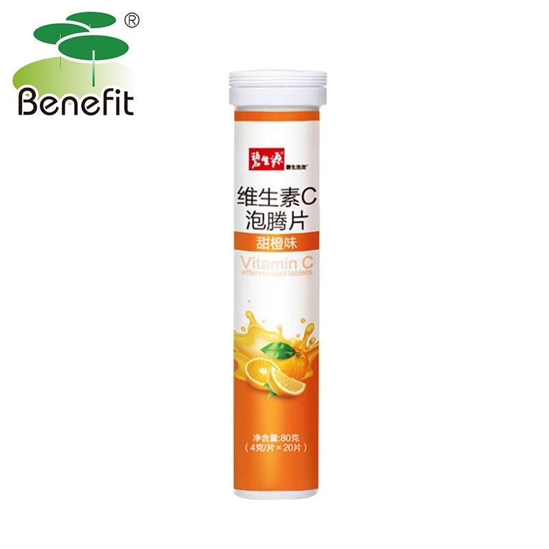 Vitamin C effervescent tablets Sweet orange Drinks