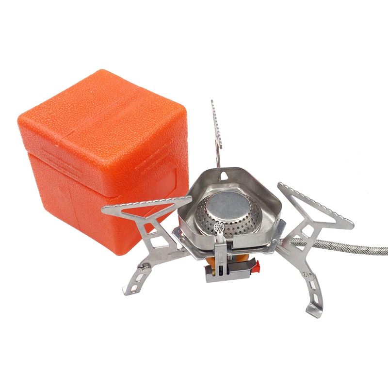 3500W estufa de Gas de Camping portátil al aire libre estufa de cocina de Gas plegable quemador dividido plegable con caja