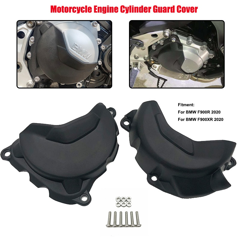 غطاء حماية أسطوانة محرك الدراجة النارية ، أسود ، يمين ويسار ، لسيارات BMW F900R F900XR F 900 R F 900 XR F 900XR 2020