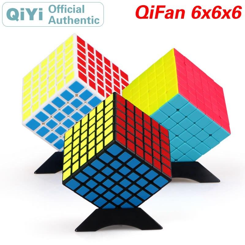 QiYi QiFan S 6x6x6 магический куб 6x6, скоростная скручивающаяся головоломка, головоломка для развития интеллекта, обучающие игрушки для детей