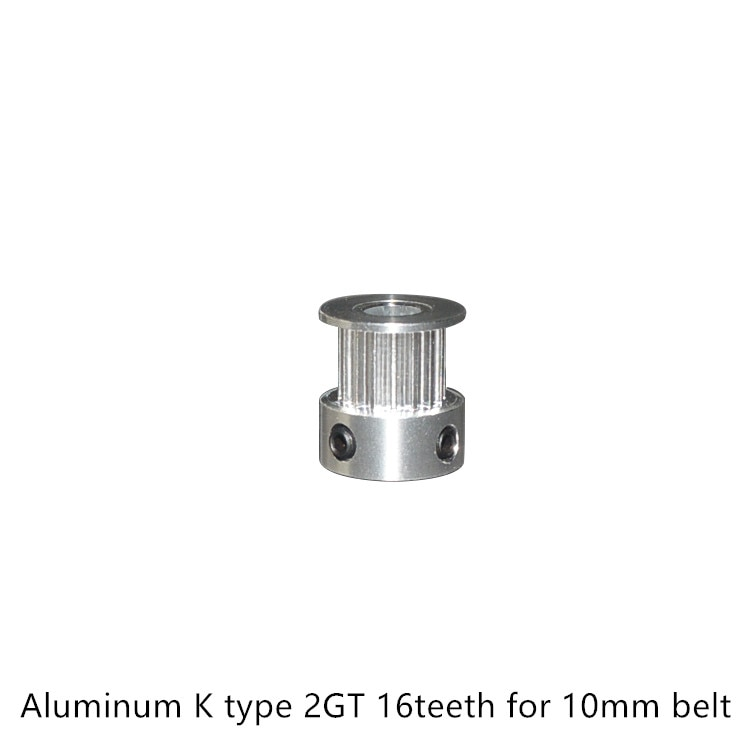 3d printer aluminum 2GT timing pulley 16teeth bore 4mm 5mm 6mm 6.35mm for GT2 belt width 9mm 10mm