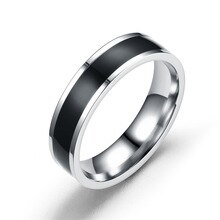 Anneau dacier inoxydable de colle de baisse de mode anneau de couplage japonais et coréen anneaux danneau des hommes pour des femmes