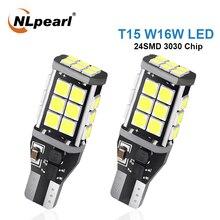 NLpearl-feu lumineux 2x Led, T15 ampoule Led, puce 3030, puce T15 W16W, feu arrière automatique Canbus, 12V
