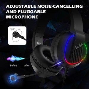 Image 4 - Игровая гарнитура EKSA E400, проводные 3D наушники с RGB подсветкой и микрофоном для ПК, PS4, Xbox One, Nintendo, телефона