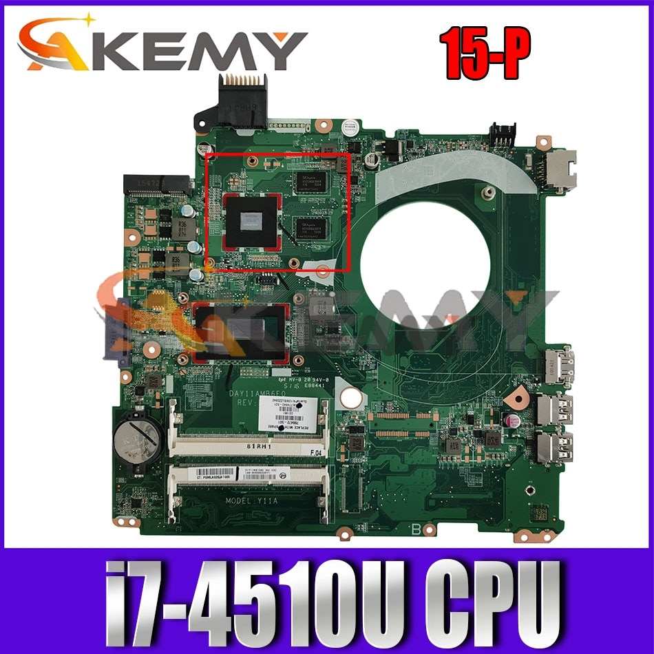 ل HP بافيليون 15-P DAY11AMB6E0 SR1EB i7-4510U N15S-GT-S-A2 DDR3L دفتر اللوحة اللوحة اختبار كامل 100% العمل
