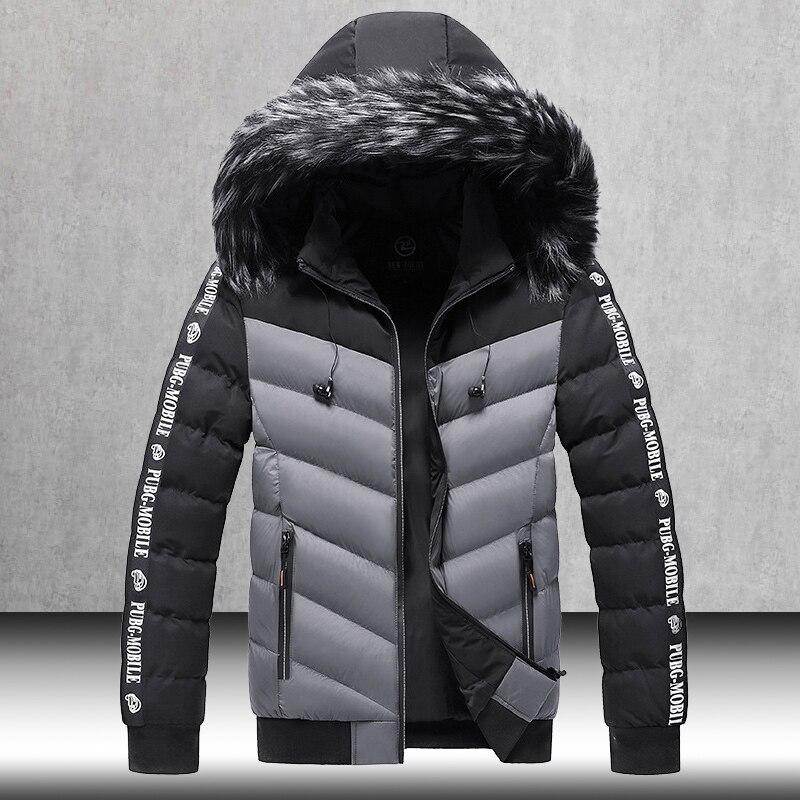 Куртка мужская зимняя со съемной подкладкой и наушниками, в полоску