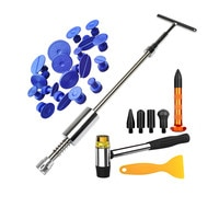 Car Paintless Dent Repair Puller Tool Body Slide Hammer Tool Glue Heavy Duty Kit for Car Hail Damage and Door Dings Repair