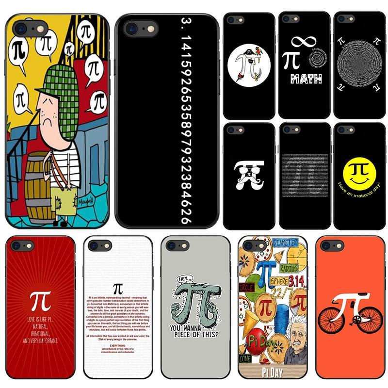 Funda Para iphone x mathematic PI de silicona suave, funda Para teléfono móvil Para Apple iphone 5 5S SE 6 6 s 7 8 Mais Xs r Max capa