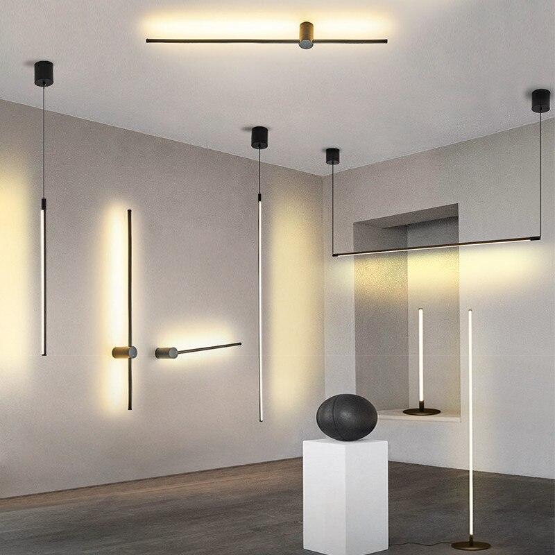 Modern Led Chandelier Light For Living room Bedroom Dining room Kitchen Black Fashion LED Chandelier Lamp foyer polar chandelier