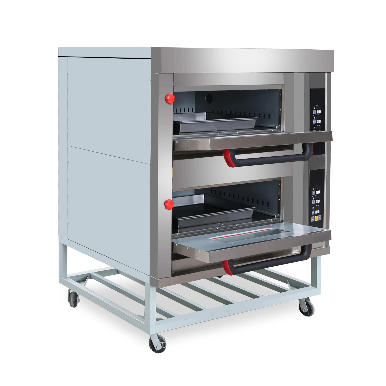 Двухслойное коммерческое оборудование хлебобулочные машины электрическая печь для выпечки пиццы с более низкими ценами