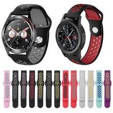 20mm 22mm bracelet pour Huawei GT honneur magique Samsung Gear S2 S3 42 46 actif Amazfit Bip bracelet de montre Silicone bracelet de montre intelligente