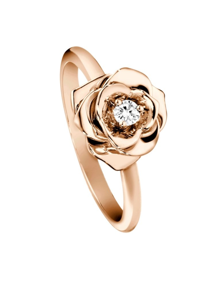 18k خاتم من الذهب الأصفر والمويسانيتي