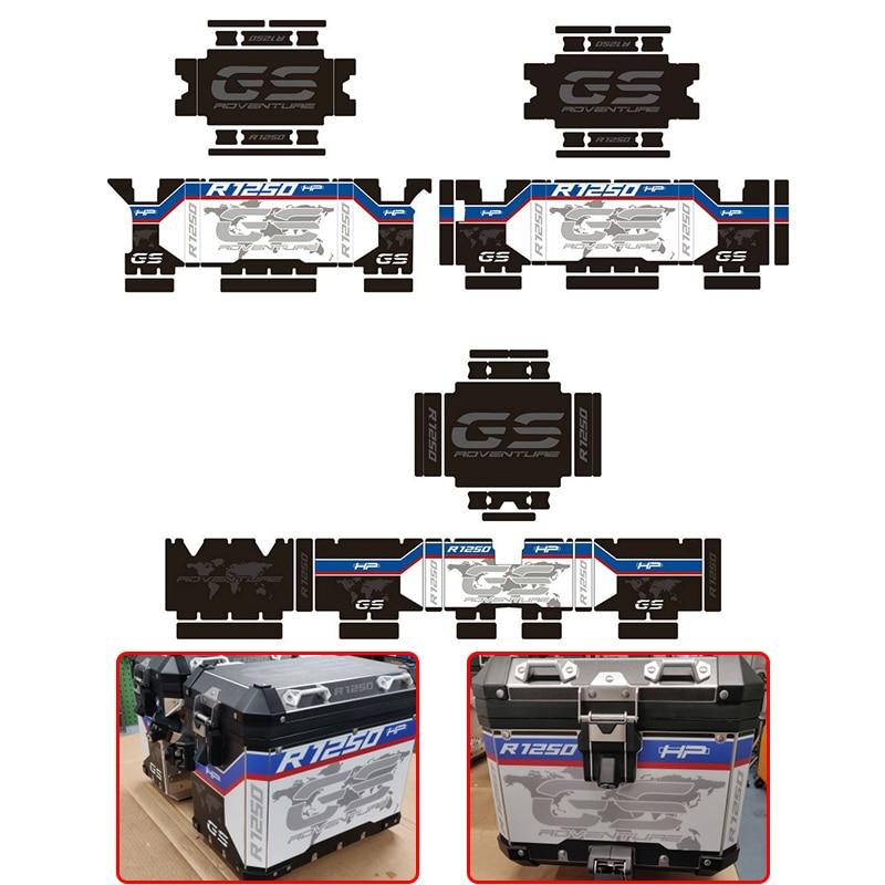 ل BMW R1250GS R1250 R 1250 GS ADV R1200GS R1200 ADV مغامرة حامي غطاء ملصق صائق مجموعة مناسبة الألومنيوم مربع 1 مجموعة