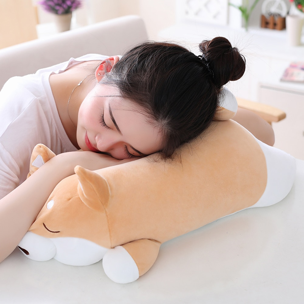 Cute Fat Shiba Inu Dog Plush Toy Stuffed Soft Kawaii Animal Cartoon Pillow Lovely Gift for Kids Baby Children and Girlfriend  - buy with discount