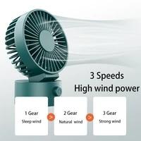 table fan portable fan rechargeable usb fan air cooler electric fan adjustable angle 3 gear strong airflow cooling fan for home