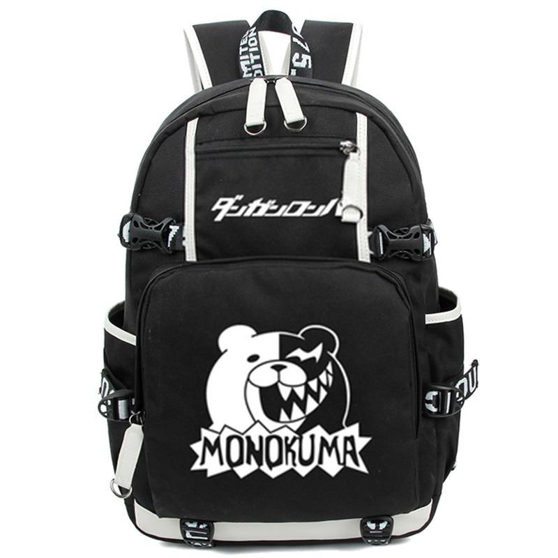 Dangan Ronpa Danganronpa Cartoon Luminous Student School Shoulder Bags Monokuma Cosplay Backpack Teenage Laptop Travel Bag