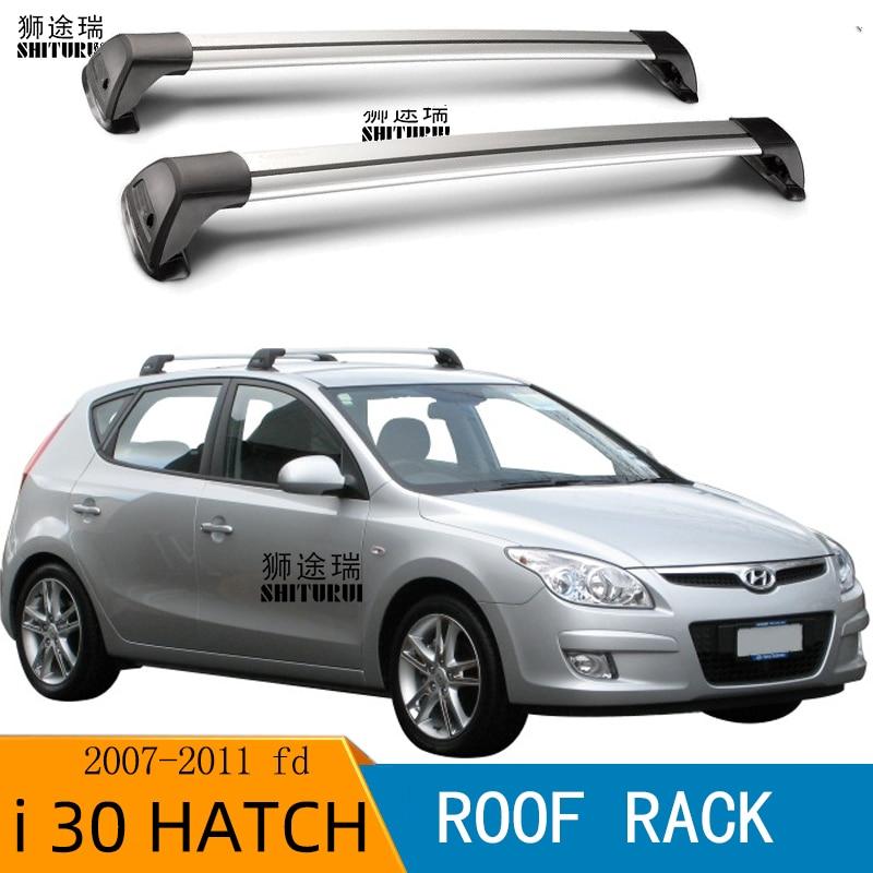 Para HYUNDAI I30 hatchback FD 2007 - 2011 (punto fijo) i 30 Vern ultra silencioso camión techo bar coche especial aleación de aluminio cinturón de bloqueo
