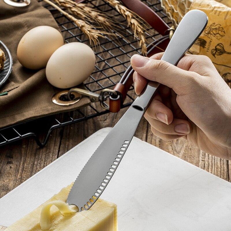 Esparcidor de mantequilla de acero inoxidable-fácil de extender mantequilla dura fría accesorios de cocina herramientas para pasteles Tabla de cuchillos