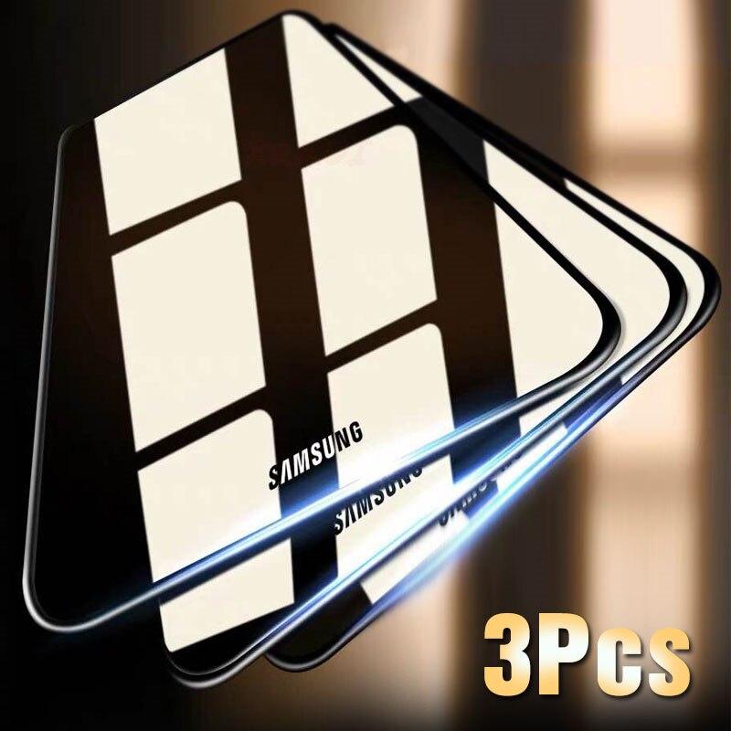 De vidrio templado para Samsung M20 M10 película protectora de pantalla para Samsung J8 J6 J4 J3 2018 película de cristal HD 2018 A7 A9 A6 A8 PLUS