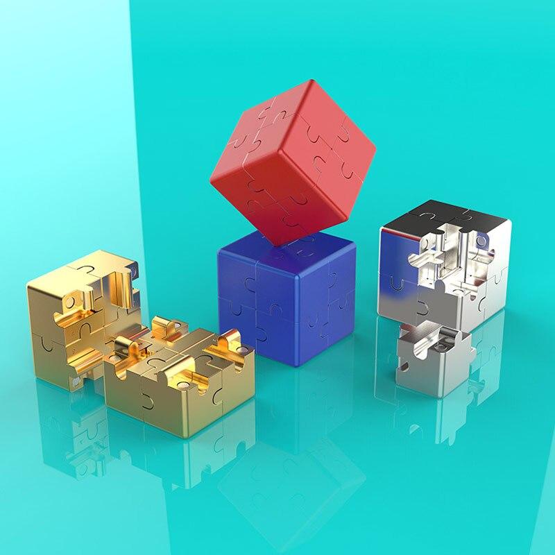 3D cubo infinito de inteligencia magnética Mini juguete EDC Cubo de alivio de estrés ansiedad niños chicos divertido ToysChristmas regalo