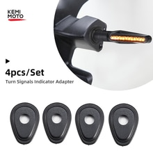 4pcs Motorcycle Turn Signals Indicator Adapter Spacers ForKAWASAKI Z250 Z300 Z650 Z750 For Honda CBR600RR CB1000 For Yamaha MT09