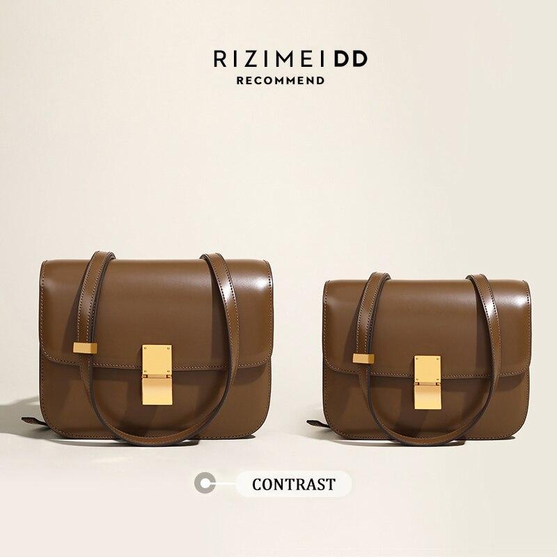 Wmnuo 2021 INS صندوق حقيبة المرأة جلد البقر الحقيقي بسيط رفرف الكتف حقائب ساعي مموهة السيدات التوفو حقائب عالية الجودة