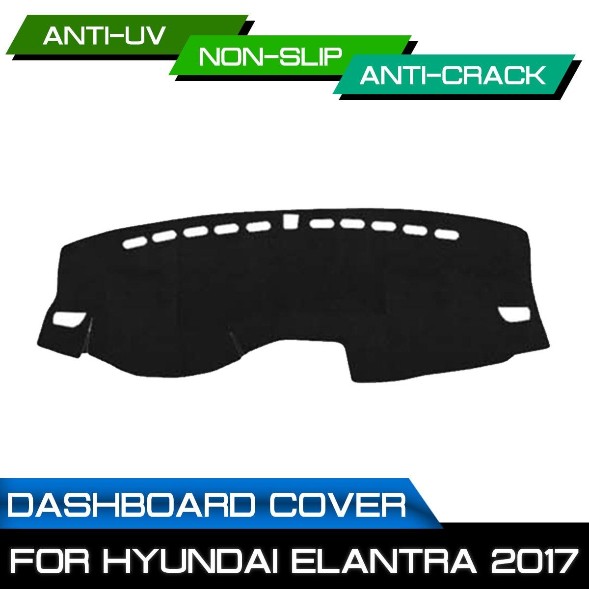 Car Dashboard Mat for Hyundai Elantra 2017 Anti-dirty Non-slip Dash Cover Mat UV Protection Shade