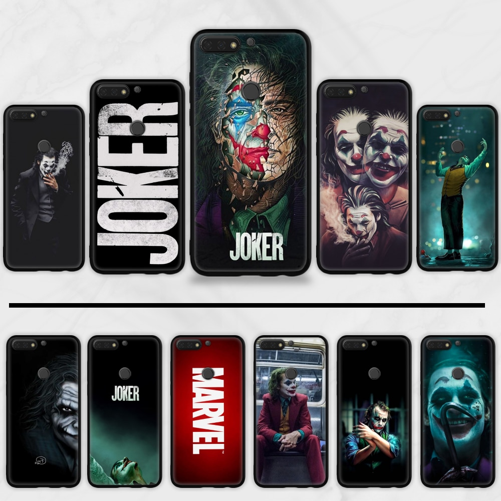Marvel joker Comics fer homme Spider-Man souple Silicone noir coque de téléphone pour Huawei Honor 7C 7A 8X 8A 9 10 10i Lite 20 NOVA 3i 3e