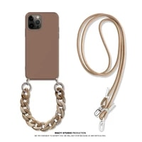 hot new crossbody lanyard necklace marble chain silicone case for iphone 12 pro max 12 mini 11 pro max xr x xs max 7 8 plus se