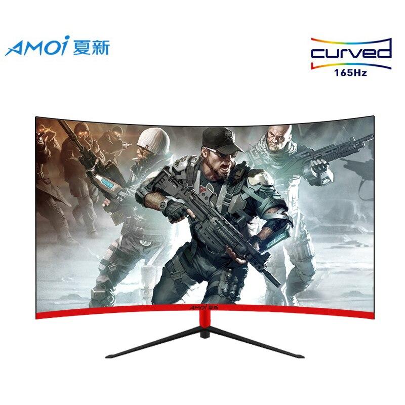Amoi-شاشة ألعاب LED مقاس 27 بوصة ، 165 هرتز ، 1 مللي ثانية ، استجابة 1080 بكسل ، شاشات LCD منحنية ، مدخل عالي الدقة بالكامل ، شاشة عريضة HDMI/VGA