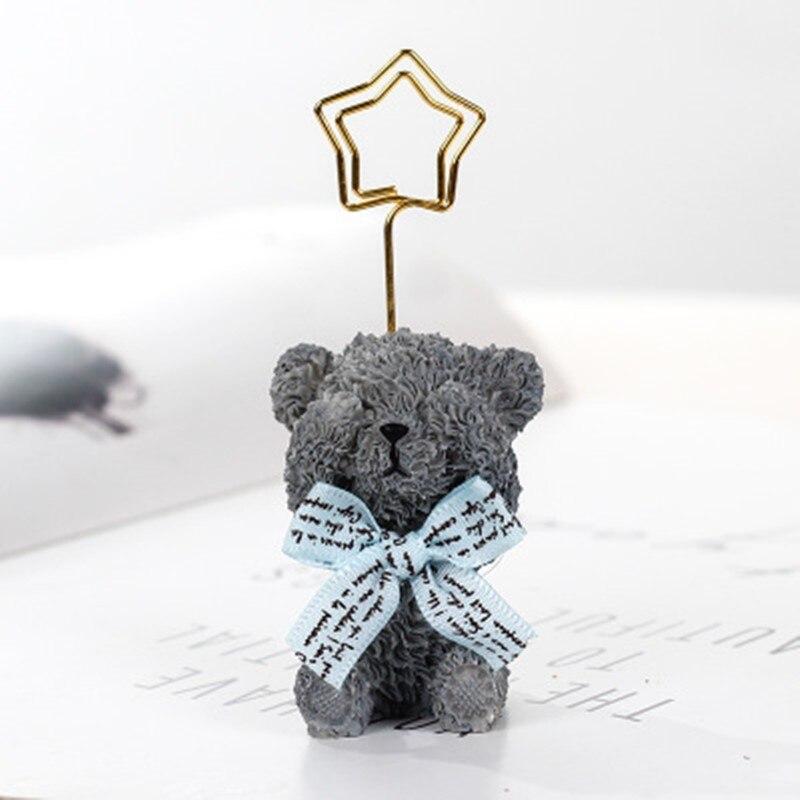 Escritorio nota clip animal corazón suministros de boda lugar tarjeta titular Mesa foto nota número nombre carpeta mensaje pliegue