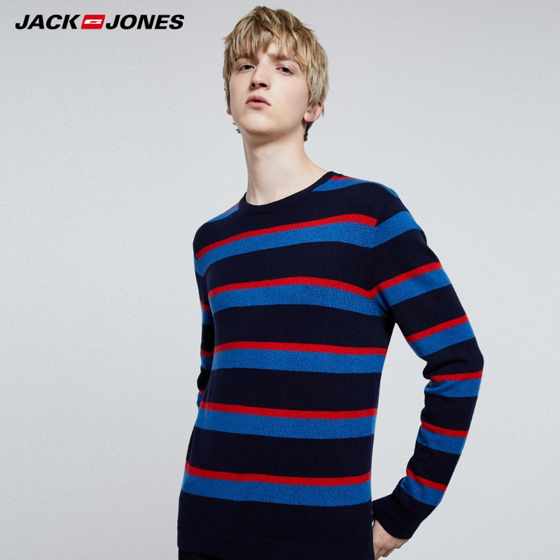 Sudadera con escote redondo a rayas básica para hombre de Jack Jones   219324523