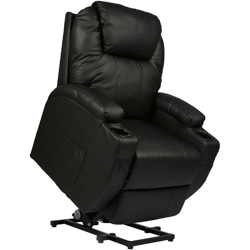 كرسي استرخاء مفرد مع تدليك وتدفئة ، أريكة استرخاء مريحة ، مصعد كهربائي مع 2 كوب ، مقعد مسرح منزلي
