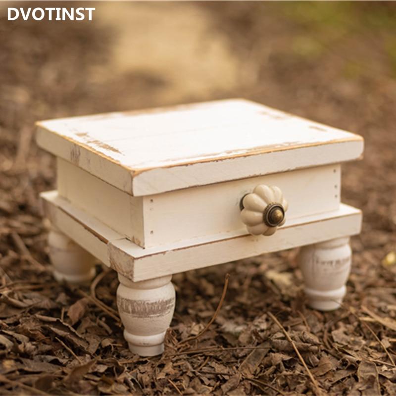 Dvotinst الوليد التصوير الدعائم للطفل الأبيض خشبية صغيرة الرجعية طاولة جانبية استوديو يطلق النار اكسسوارات صور الدعائم
